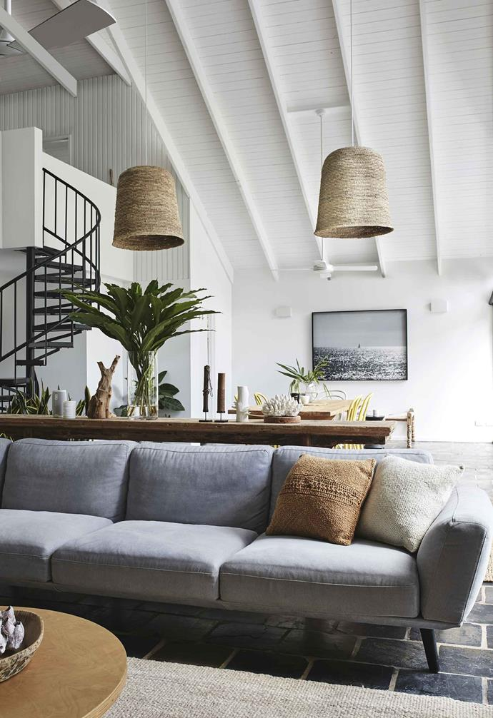 "**Living and dining area** Neutral tones and natural textures feature, with a [King Living](https://www.kingliving.com.au/|target=""_blank""