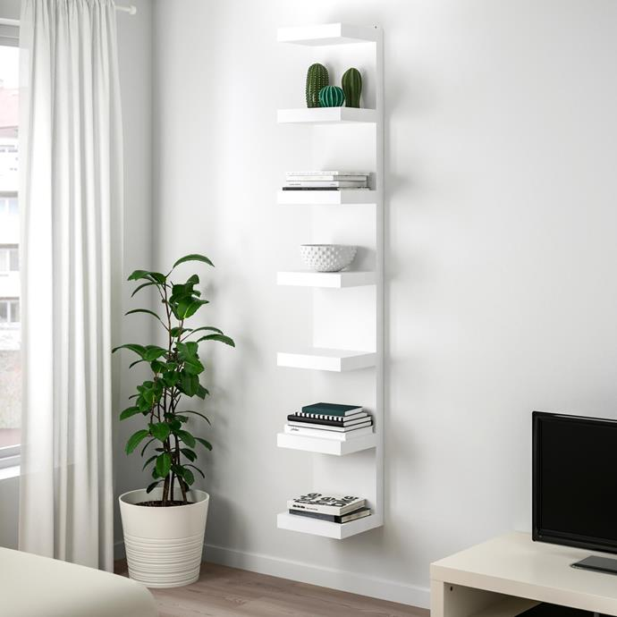 "Lack particleboard wall-mounted shelf unit, $89, [Ikea](https://www.ikea.com/au/en/catalog/products/40282187/|target=""_blank""