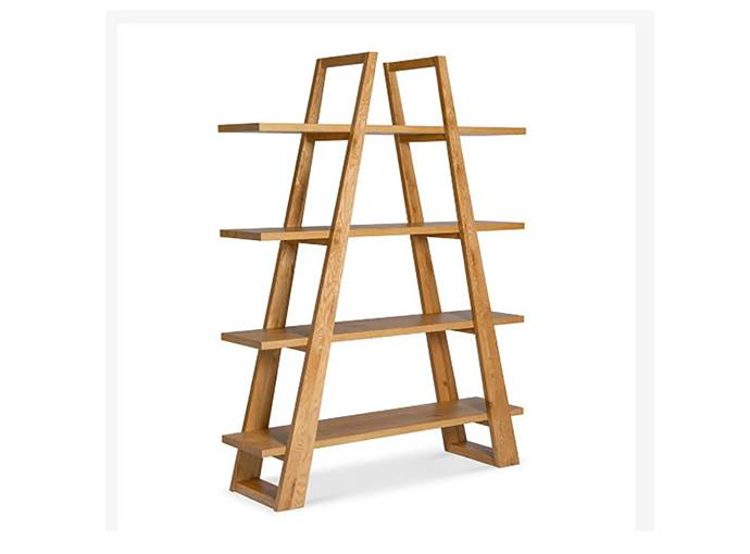 "Carlsen American knotty oak bookshelf, $945, [The Design Edit](https://www.thedesignedit.com.au/products/carlsen-bookshelf|target=""_blank""