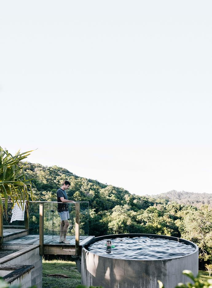 The pool from Allcast Precast is the perfect spot to take in views of the hinterland.