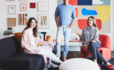Inside the artistic home of Dinosaur Designs founders Louise Olsen and Stephen Ormandy