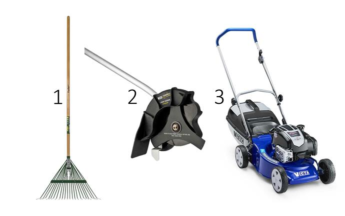 """1. Cyclone 22T Steel Springback **leaf rake**, $31.55, fromg [Bunnings](https://www.bunnings.com.au/cyclone-22t-steel-springback-leaf-rake_p3360946