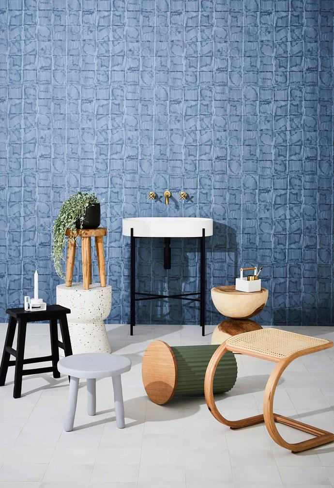 "**And the rest** Block wallpaper in Oil, $72 per lineal metre, [These Walls](https://thesewalls.com.au/|target=""_blank""