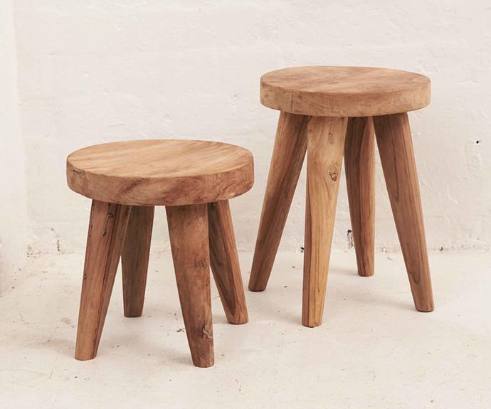 "Rokha stool, $189, [Inartisan](https://www.inartisan.com/|target=""_blank""|rel=""nofollow"")."
