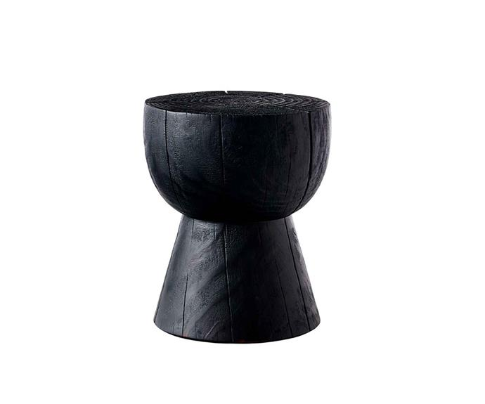 "Egg cup stool in Scorched, $850, [Mark Tuckey](https://www.marktuckey.com.au/|target=""_blank""