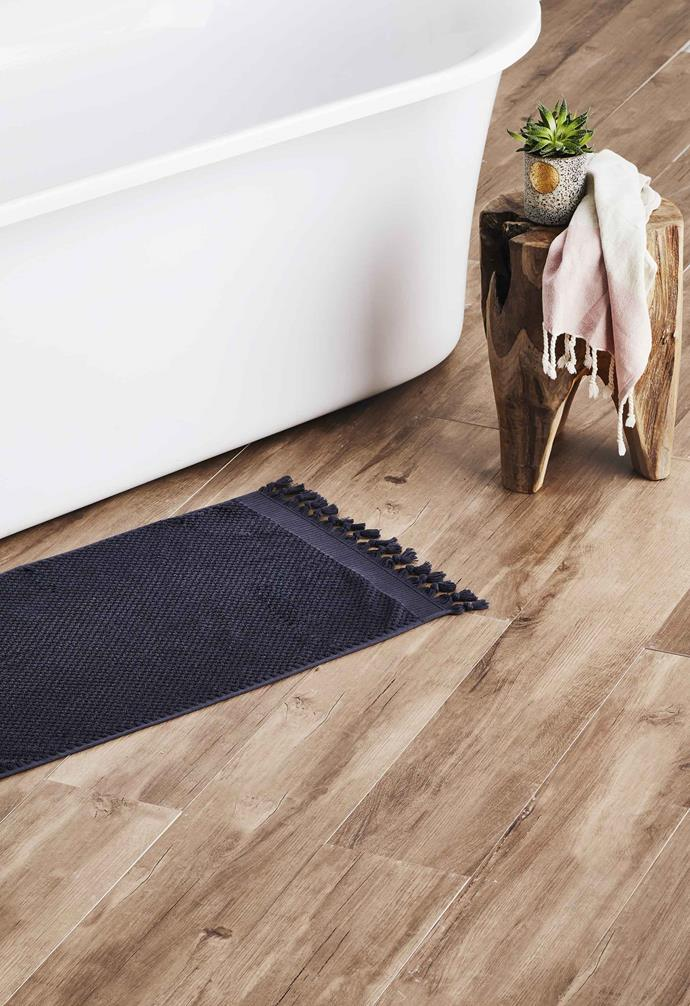 "**Get the look** Floor in Amazon Noce glazed porcelain tiles, from [Beaumont Tiles](https://www.beaumont-tiles.com.au/|target=""_blank""