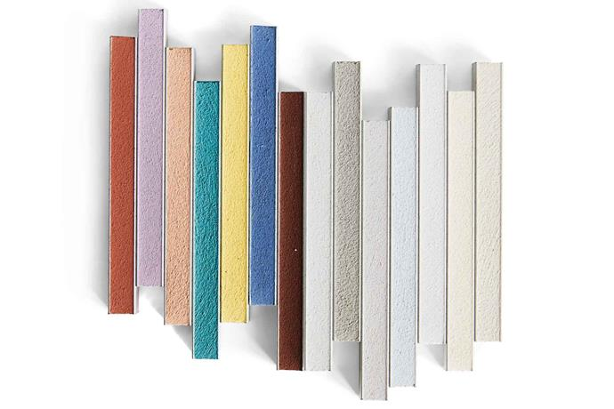 "**Colour picks** *(L-R)* Terra di Siena, Violet, Powder Pink, Turquoise, Yellow, Space Blue, Chocolate, Moon White, River Grey, Medium Grey, Crocus Blue, Manhattan 2000, Jasmine and Silver Grey, all from [Mapei](https://www.mapei.com/au/en/home-page|target=""_blank""