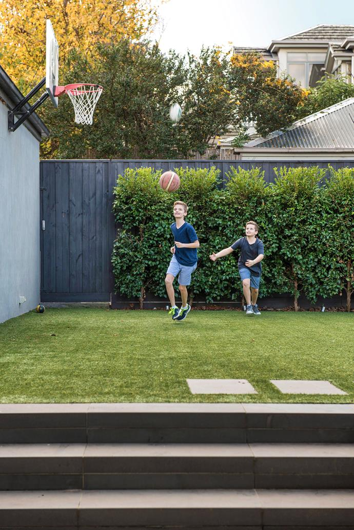 Matt says lawns aren't the be-all-and-end-all, but will be a must-have for active, young families.