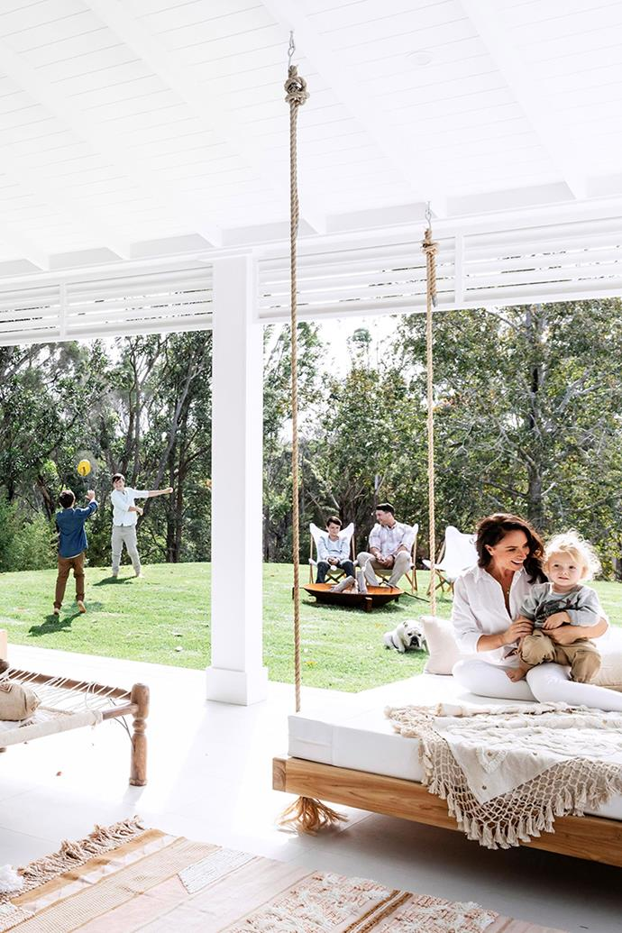 A lush green lawn is an important feature of the Hindmarsh's home. *Photo: Maree Homer / bauersyndication.com.au*