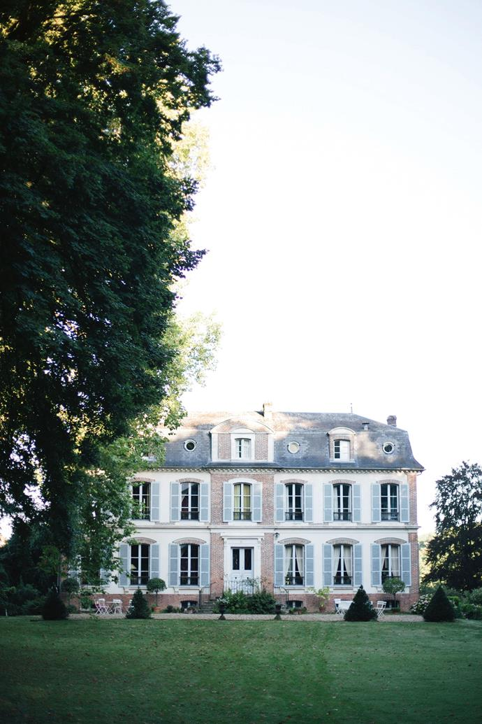 The chateau's grand facade.