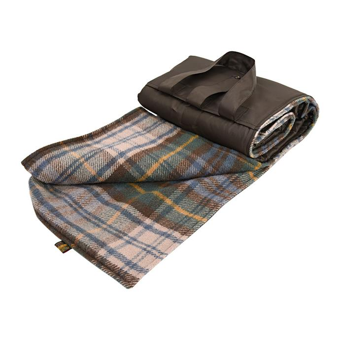 "Eventer pure new wool **picnic blanket** in antique dress Gordon/Brown, $139, from [Amara](https://fave.co/2VXX10X|target=""_blank""
