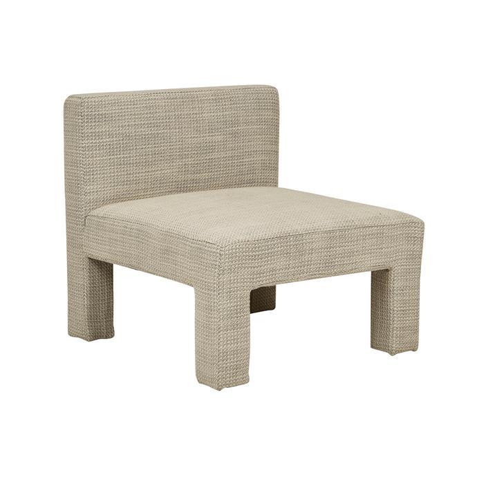 "Felix Chubby occasional chair in Malt, $1350, [GlobeWest](https://www.globewest.com.au/|target=""_blank""|rel=""nofollow"")."