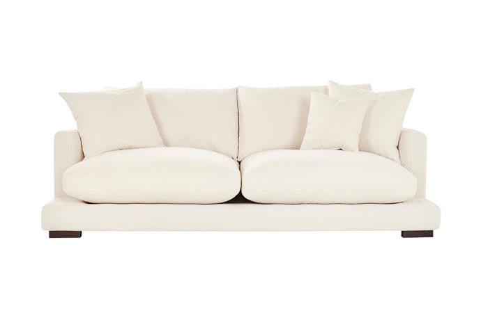 "Long Beach 3-seat sofa in Bellevue Ivory, $2499, [Lounge Lovers](https://www.loungelovers.com.au/|target=""_blank""|rel=""nofollow"")."