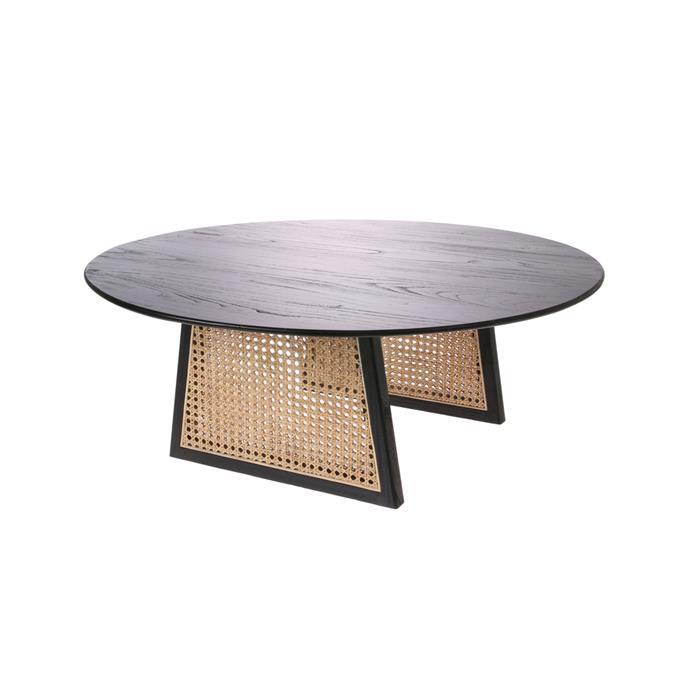 "HK LIVING Webbing Coffee Table, $799, [RJ Living](https://www.rjliving.com.au/buy-webbing-coffee-table-large-black.html|target=""_blank""|rel=""nofollow"")"