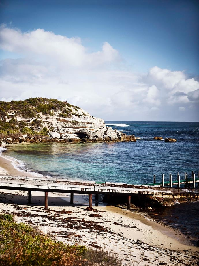 The jetty at Gnarabup Beach is a ten-minute walk from the Jolliffe family's property.
