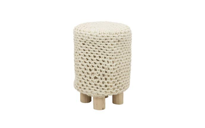 "'Munnar' thick weave round **footstool** in beige, $69.30, from [Schots Home Emporium](https://www.schots.com.au/munnar-thick-weave-round-footstool-beige-ka108020be.html target=""_blank"" rel=""nofollow"")."