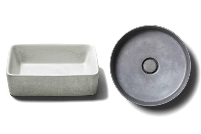 **Studio Bagno** The Tundra basin (left) and Silo basin (right).