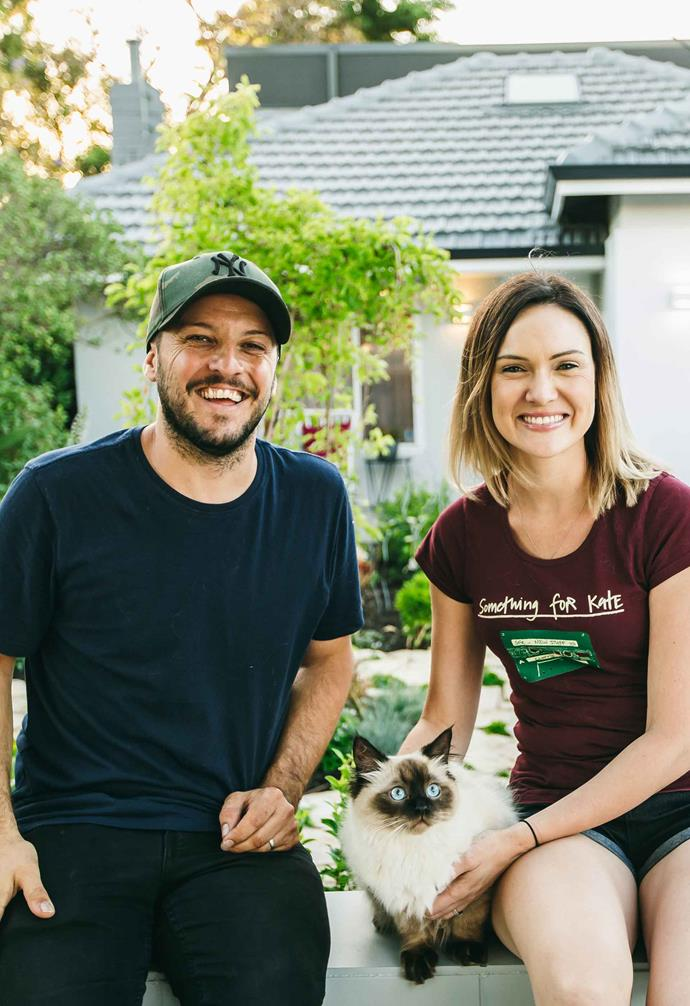 **Nood Co** Matt and Kim Di Costa started their furniture business with a single concrete sink.