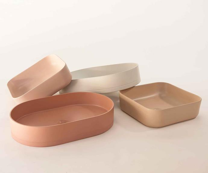 **Nood Co** A selection of the Pill basins and cube basins.
