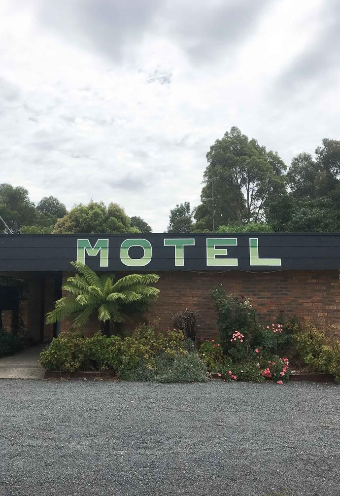 Eye-catching signage was a big feature of early motels.