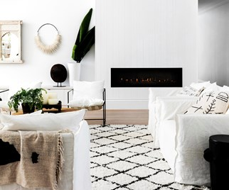 Blocked fireplace styling ideas