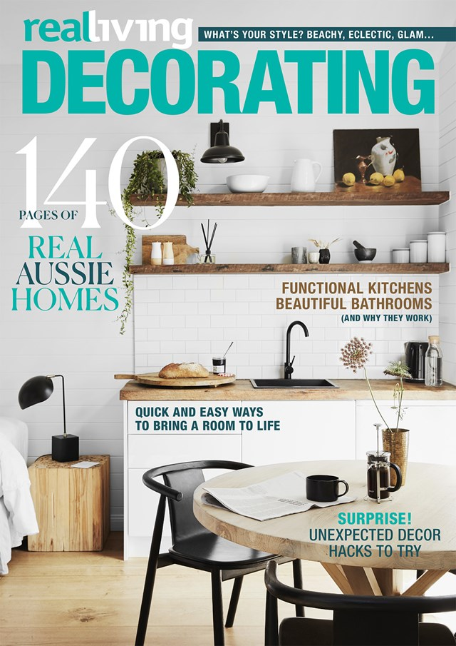"See more of Georgie's goregous home in our Decorating issue - [on sale now](https://www.magshop.com.au/real-living-decorating|target=""_blank""