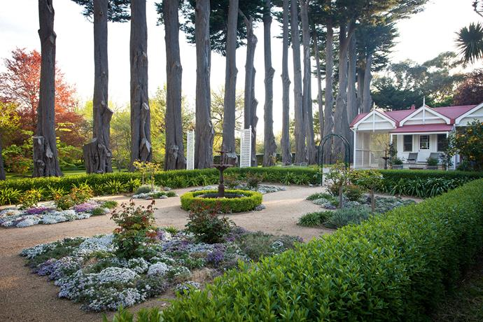Subtle design changes have been made to this historic hill-station garden, including transforming the gravel driveway into small flower and vegetable gardens.