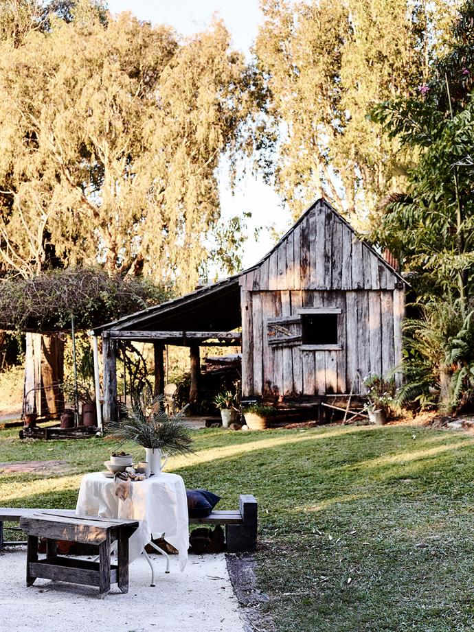 The barn is a much-loved family retreat in winter but the Britts like eating outside in the warmer months.