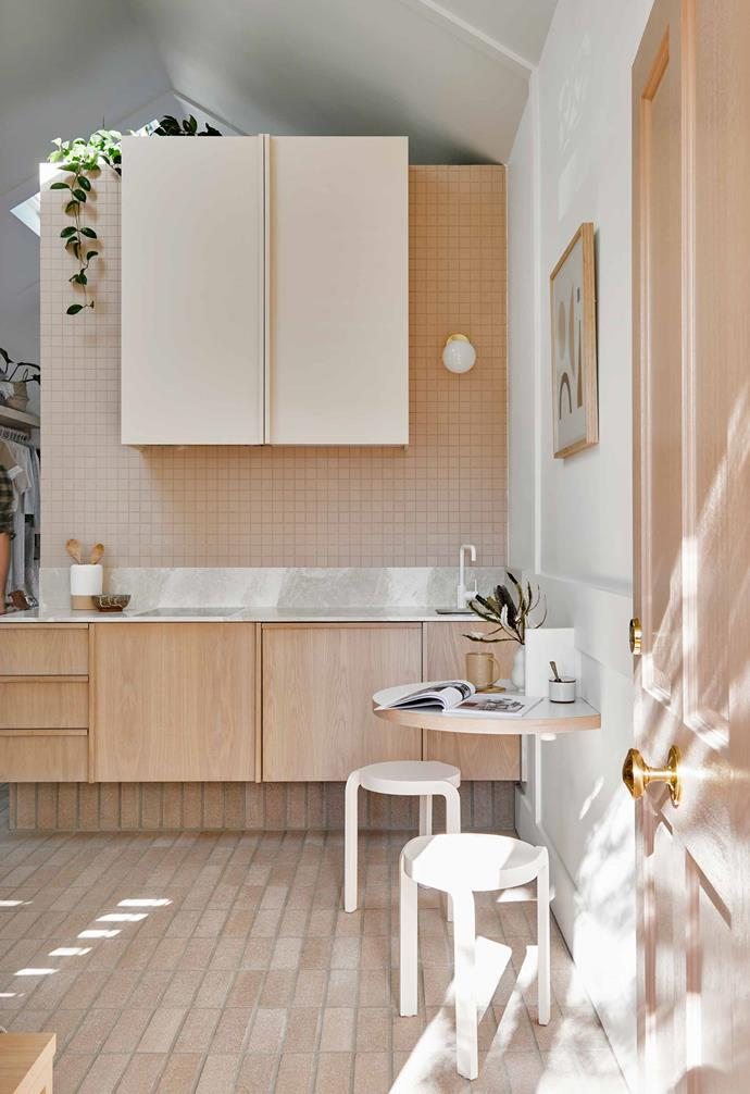 "Which doesn't mean you have to go all out with your cabinet colour choice - in [Josh and Jenna's revamped cottage](https://www.homestolove.com.au/josh-and-jenna-denstens-cottage-renovation-5974|target=""_blank"") a nude blush colour complements the blonde timber and pale bricks throughout the home."