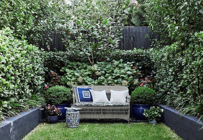 Therese McGroder Garden Design created this lush, low-maintenance haven.