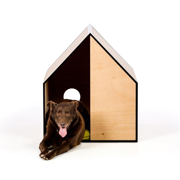 "When a generic kennel just wont do. This designer dog house by award winning architect Michael Ong & Pen combines minimalistic design with architectural design principles, to give your dog a stylish place to sleep. 'The Dog Room' in plywood, $519.95, from [Modern Pets](https://www.modernpet.com.au/products/modern-dog-house-with-mattress-the-dog-room-plywood?variant=20774996443239&utm_medium=cpc&utm_source=google&utm_campaign=Google%20Shopping&gclid=CjwKCAjw27jnBRBuEiwAdjQXDBPGb63dt5JBib1D2y1uZi1QGO-7CBj2ci_BNjuZ8kslw1K8Ct5KthoCeGkQAvD_BwE|target=""_blank""