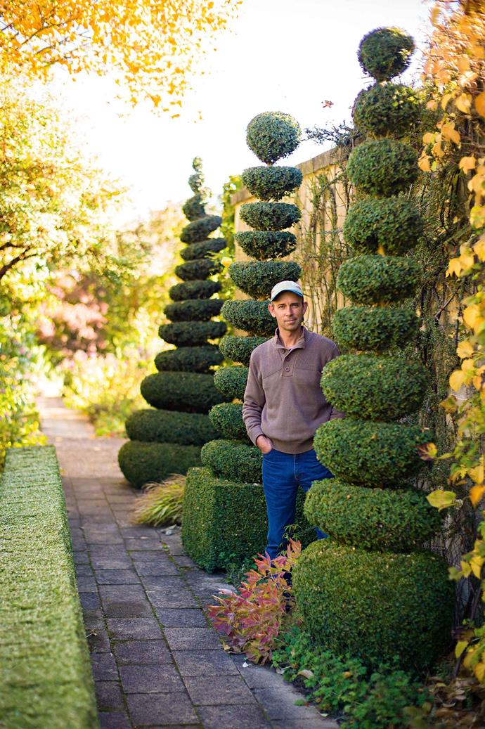 """Craig Irving in his [topiary garden](https://www.homestolove.com.au/garden-design-styles-19942