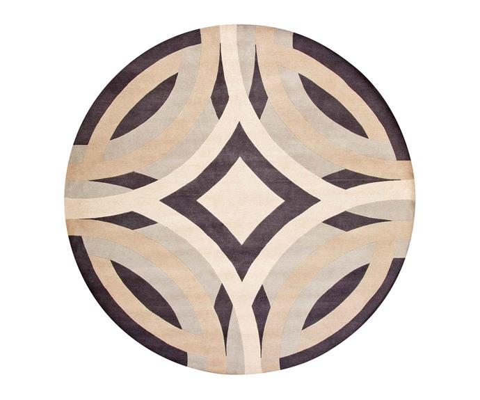 "Greg Natale 'Saint Tropez' rug, $5300 (250cm diameter), [Designer Rugs](https://www.designerrugs.com.au/|target=""_blank""|rel=""nofollow"")."