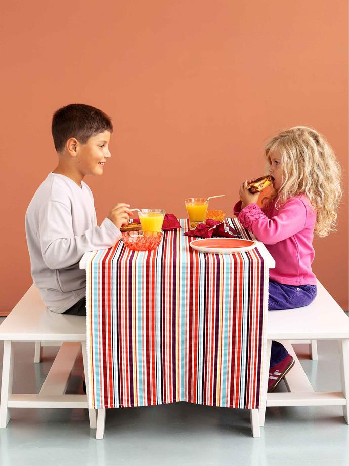 When dining with kids, it's a good idea to keep toys nearby.