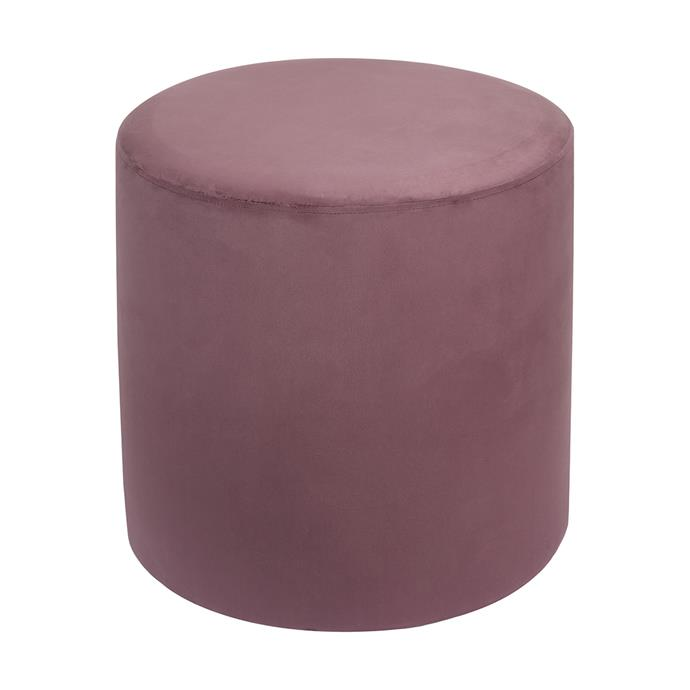 "Velvet adds warmth, depth and texture to an interior space. If you don't want to invest in a velvet couch, a luxe cushion or this divine [Velvet Ottoman in 'Huckleberry', $29](https://www.kmart.com.au/product/velvet-ottoman---huckleberry/2369344 |target=""_blank""
