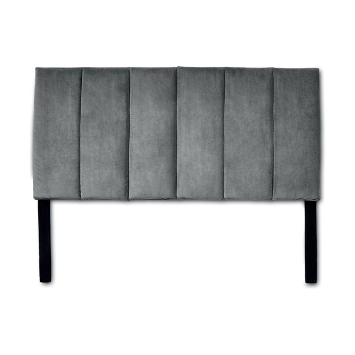 """Turn your bedroom into a luxurious winter retreat with this [grey Velvet Bedhead, $79](https://www.kmart.com.au/product/grey-velvet-bed-head/2341836 target=""""_blank"""" rel=""""nofollow"""")."""