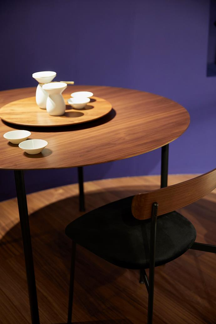 'Crawford'  table and chair by Tom Fereday for Stellar Works.