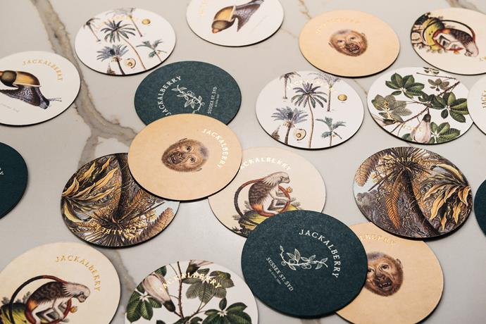A playful collection of bar coasters.