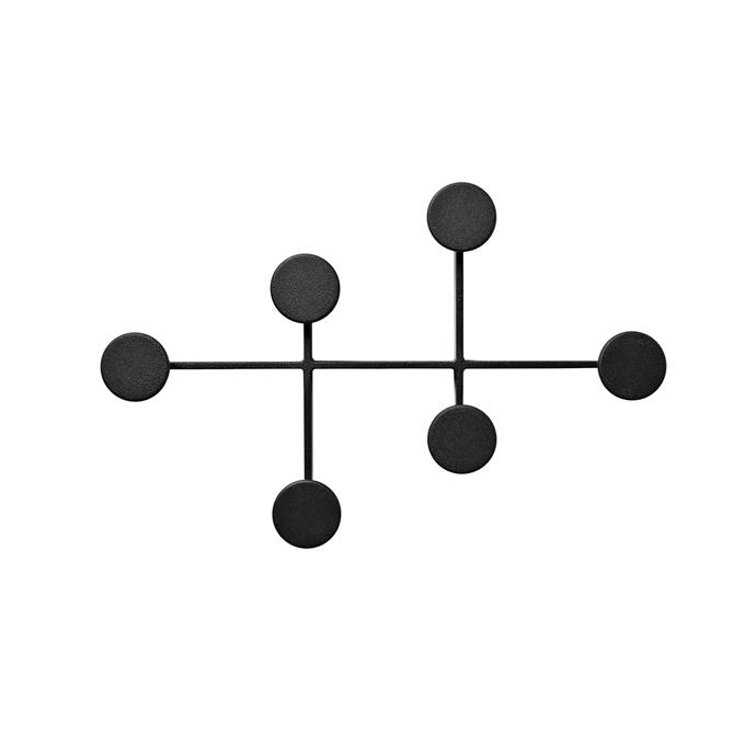 "Menu ""Afteroom"" coat hanger in Black, $275, [Designstuff](https://www.designstuff.com.au/menu-afteroom-coat-hanger-black/.|target=""_blank""|rel=""nofollow"")."