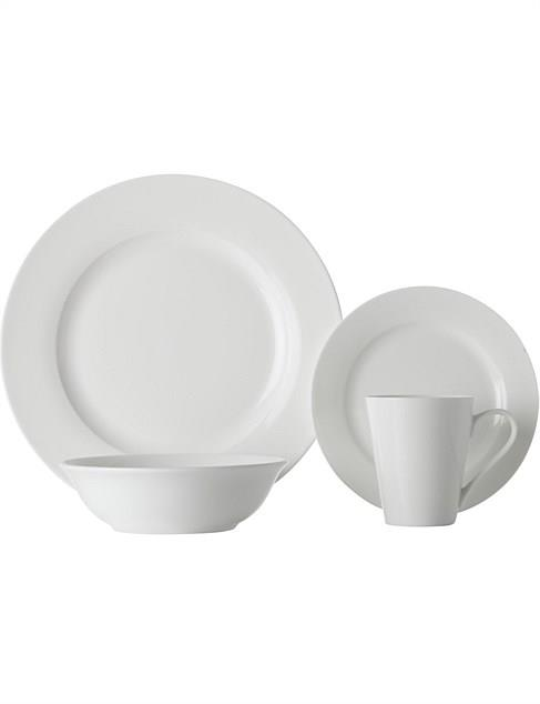 "<P>**BASIC**<P> <P>Maxwell & Williams 'White Basics Cosmopolitan Rim' 16-piece **dinner set** will be pulled out time and again for every kind of gathering. Perfect for both daily use and special occasions, these plates fade into the background, allowing the food to become the hero.<p> <p>'White Basics Cosmopolitan Rim' 16-piece dinner set, $49.98, available at [David Jones](https://fave.co/2Mrsm7F|target=""_blank""