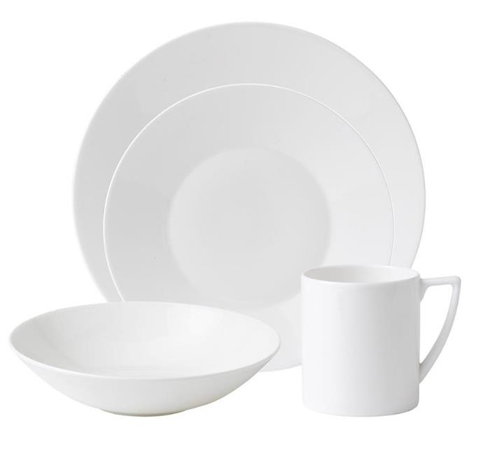 "<p>**MINIMALIST**<P> <P>Wedgewood's 'Jasper Conran' 16-piece **dinner set** in white is a quiet achiever. It is simple, refined and durable, constructed from fine bone china.<p> <P>'Jasper Conran' 16-piece dinner set, $249.50, from [Wedgewood](https://www.wedgwood.com.au/jasper-conran-white-16-piece-set.html|target=""_blank""
