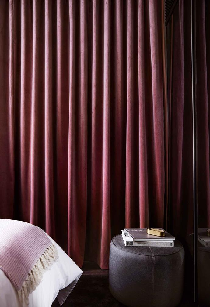 Curtains closed in an Urban Suite.