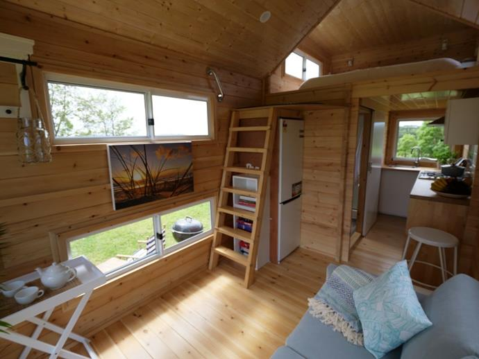 The timber-clad interior looks too good to be true!