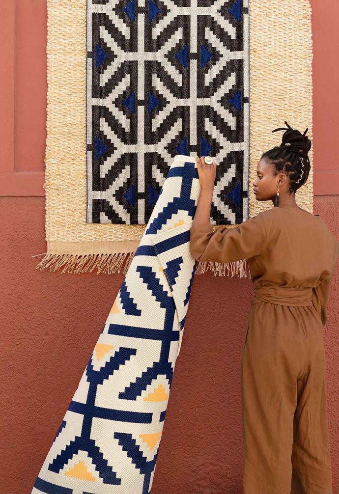 "OVERALLT flatwoven rug, $149, [IKEA](https://www.ikea.com/au/en/|target=""_blank""|rel=""nofollow"")."