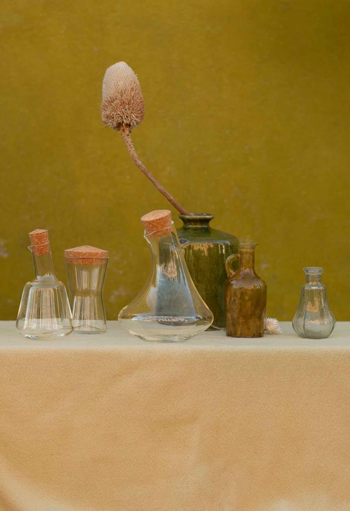 "OVERALLT jar with lid, $4.99, OVERALLT oil jug, $6.99, OVERALLT carafe, $14.99, [IKEA](https://www.ikea.com/au/en/|target=""_blank""|rel=""nofollow"")."