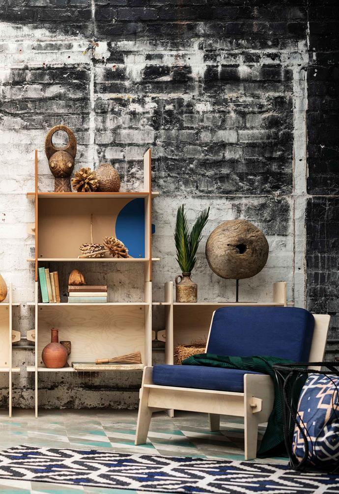 "OVERALLT easy chair with cushions, $139, [IKEA](https://www.ikea.com/au/en/|target=""_blank""|rel=""nofollow"")."