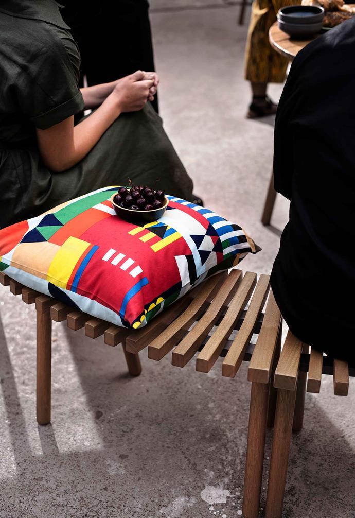 "OVERALLT cushion cover, $7.99, [IKEA](https://www.ikea.com/au/en/|target=""_blank""|rel=""nofollow"")."