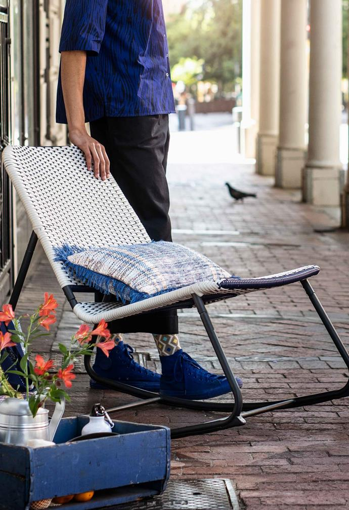 "OVERALLT rocking chair, $99, [IKEA](https://www.ikea.com/au/en/|target=""_blank""|rel=""nofollow"")."