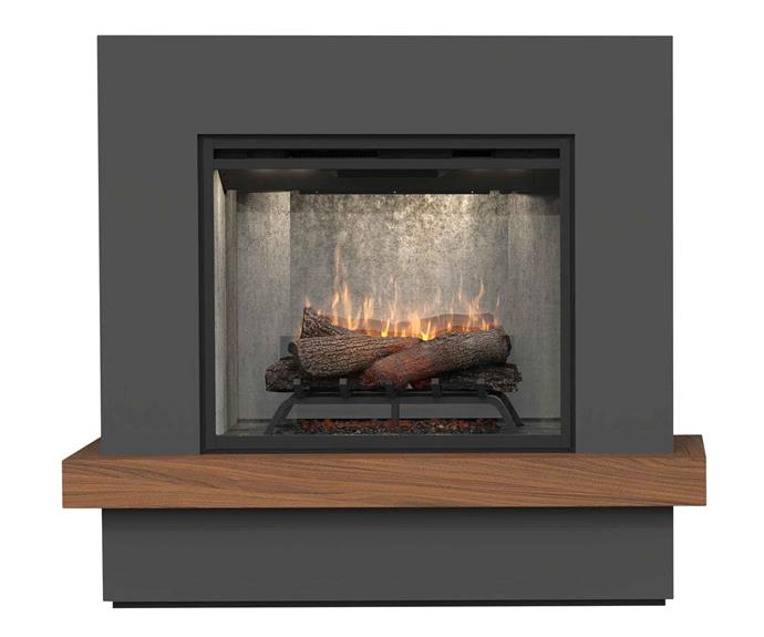 "Sherwood plug-in electric fireplace, $2799.95, [Dimplex](http://glendimplex.com.au/|target=""_blank""