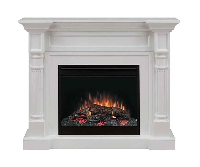 "Winston 'Electraflame' plug-in electric fireplace, $2499.95, [Dimplex](http://glendimplex.com.au/|target=""_blank""|rel=""nofollow"")."